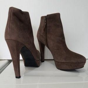 Stuart Weitzman Suede Platform Ankle Heel Boot 8.5